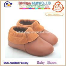 Venta al por mayor de alta calidad de cuero genuino zapatos bebé