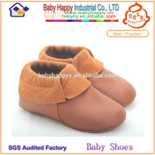 MOQ 52 / mix 3 дизайн младенца мокасины тапочки ребенка полосатая кожа