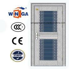 Silber Farbe 304 Edelstahl Außerhalb Sicherheit Metall Tür (W-GH-30)