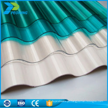 Chapas de plástico de policarbonato de carvão ondulado duráveis duráveis