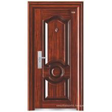 Walnut Colour Deep Embossing Steel Security Door