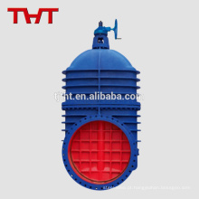 Grande válvula de portão barato dn900 500mm com engrenagem espiral