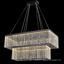 Hot Big Double-deck Rectangle Crystal Decorative Chandelier