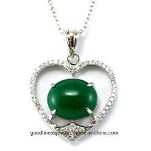 Boa Qualidade e Delicado 925 Sterling Silver CZ Stones coração pingente atacado 2015 P4990