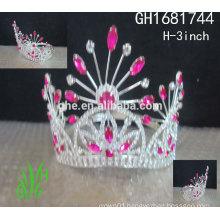 New designs rhinestone royal accessories queens tall pageant crown tiara