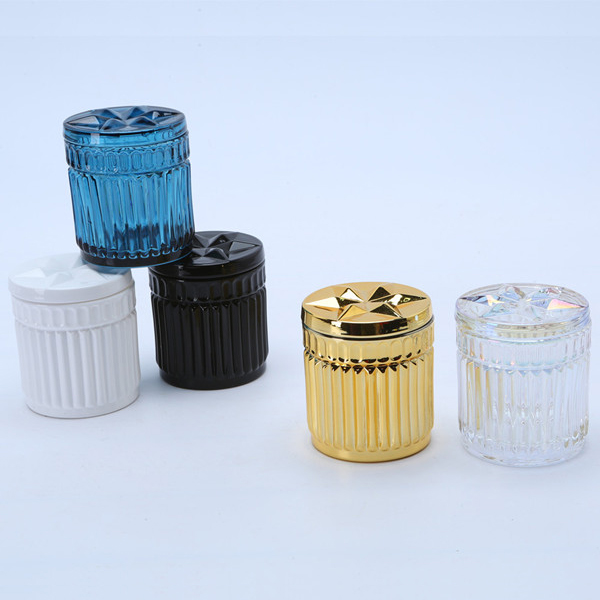 Br 1808 New Arrival Luxury Color Glass Candle Jars
