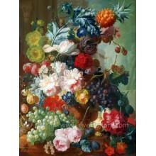 Pintura a óleo pintada mão da flor da peônia de 100%
