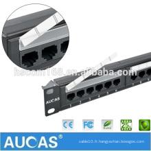 Best Buy Livraison rapide 1u Câble Ethernet Cat6 Patch Panel Panneau mural Patch6