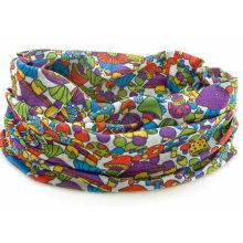 Promotional Floral Printing Microfiber Buff Multi Tube Scarf Headband