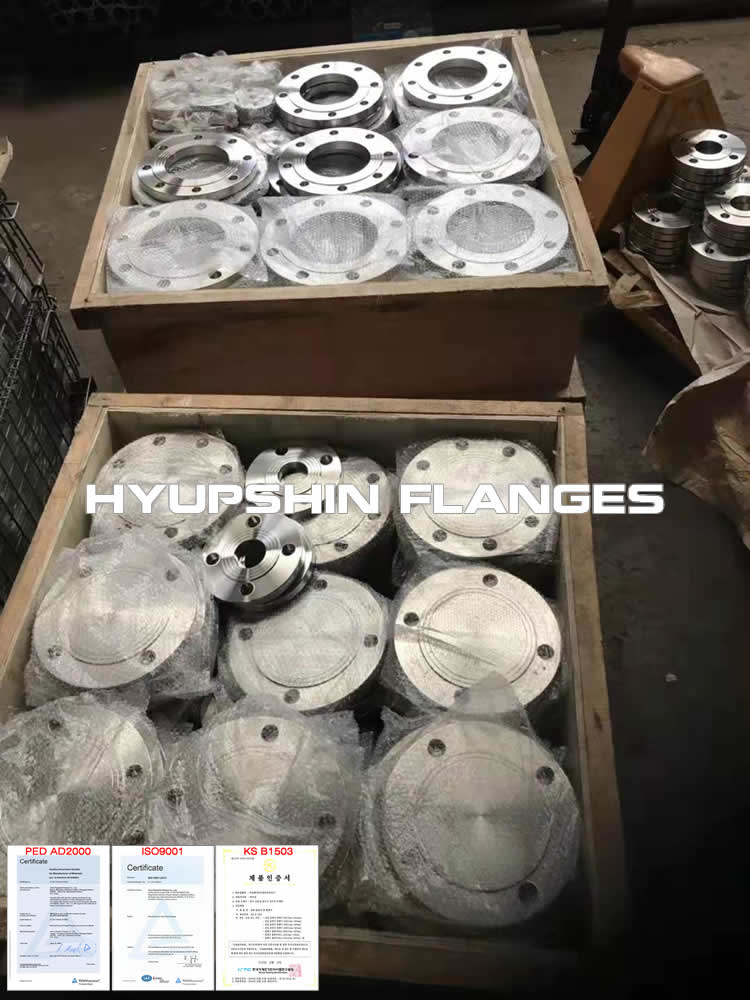 Hyupshin Flanges Stainless Steel En1092 1 Pn10 Pn16 Plate
