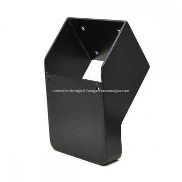 Support de moteur de bateau hors-bord en métal noir enduit de poudre de haute qualité
