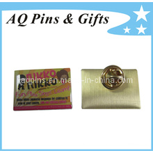 Lower Cost Metal Pin Badge in Offset Print Pin (badge-009)