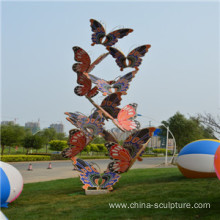 simulation stainless steel animal sculpture-butterfly
