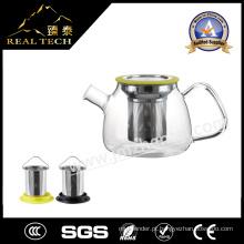 Caneca de chá de vidro com borosilicato de borracha multifuncional com infusor
