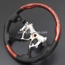 Special design classic brown black wood steering wheel for Toyota Hiace KDH 200
