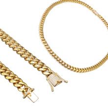 Cadena de Hip Hop de lujo de acero inoxidable Cadena de Dubai nuevo diseño de cadena para el hombre