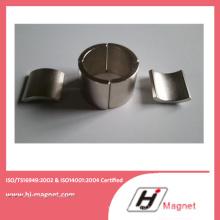Высокая мощность сильный неодимовый магнит сегмента с ISO9001 Ts16949