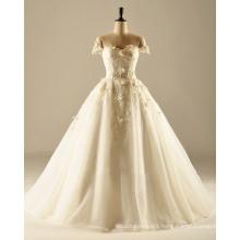off The Shoulder A Line Wedding Dress