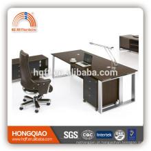 mesa de escritório bege e branco mesa de recepção de tinta spray de alto brilho mesa de escritório de bordo