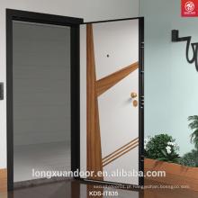 Porta exterior, porta blindada Wood-Steeel exterior, porta blindada de design exterior islâmico