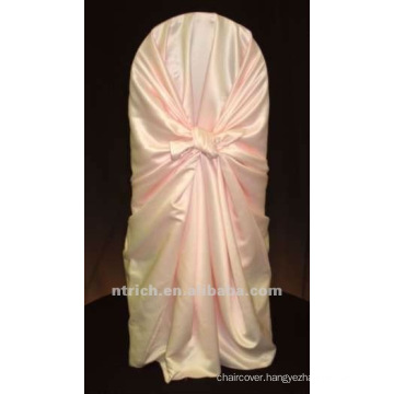 self-tie back chair cover,CT196 satin chair cover,universal chair cover