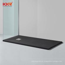 KKR Customize Rectangular Shaped Stone Resin Black Shower Tray