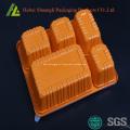 Recipientes de plástico com 5 compartimentos