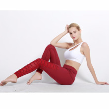 Estilos de moda mujeres deporte desgaste mujeres vendaje yoga pantalones polainas