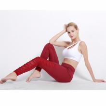 Estilos de moda mulheres esporte usam mulheres bandagem calças de yoga leggings