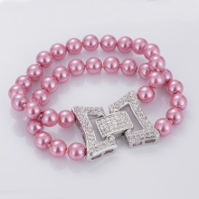 Fast Delivery for Charm Pearl Bracelet Charm Pink Pearl Beads Bracelet Set supply to Libya Factory
