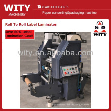 Roll to Roll Label Laminiermaschine