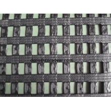 6mx100m / Roll, 30kn / 30kn, 13% alongamento PVC Revestimento Warp-malha de poliéster geogrelha biaxial