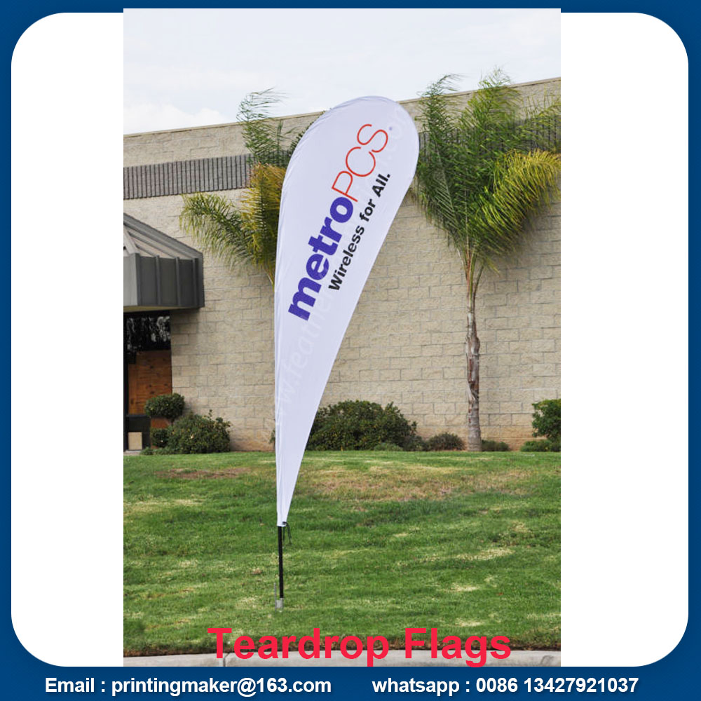 Medium Size Printed Teardrop Flags Banners