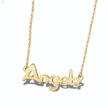 Alphabet Plate Edelstahl Angel Custom personalisierte Namen Halskette