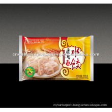 Opp plastic Frozen food packaging bag for dumplings