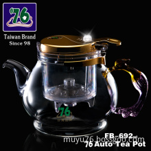 Unique Design Multifuction Glass Teapot with Filter Net and Infuser