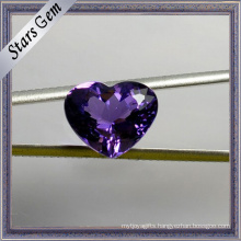 Special Exqusite Heart Shape Beautiful Purple Natural Amethyst