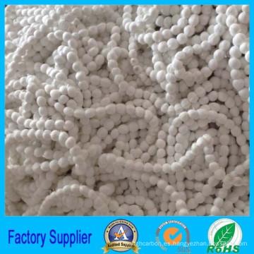 material de filtro poliéster bola de fibra renovable para la venta