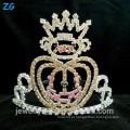 Moda banhado a prata crianças cristal Halloween abóboras coroa para pageant usando