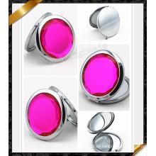 Espejo rosado de Rose con el diamante, espejo de plata (MW010)