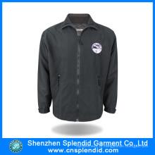 2016 China Fabricação de Alta Qualidade Velo Casaco Preto