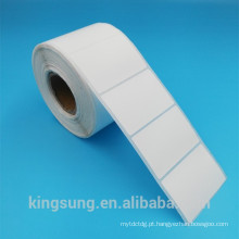 rolo de rótulo de etiqueta de papel branco de baixo brilho semi preço