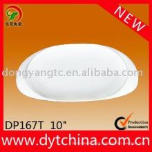 Bandeja oval de porcelana de 10 polegadas