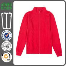 2016 красный пуловер дешево флисовой молнии до Hoodies оптом