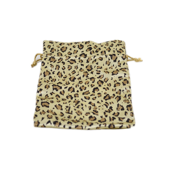 Leopard Printed Satin Bag