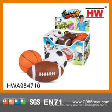Lustige Sport Spielzeug PU Ball Rugby Fußball Basketball Set PU Stress Ball für Kind
