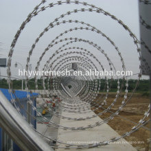 hot dipped galvanized razor barbed wire CBT65 concertina wire razor blade
