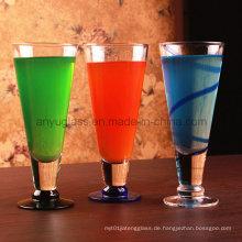 Ökologisch freundliches bleifreies Glas Getränke-Saft-Cup für Wasser, Wein, Bier, Milchshakes