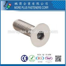 Maker in Taiwan DIN7991 Carbon Steel Class 4.8 Standard M6 Flat Head Hexagon Socket Cap Screw