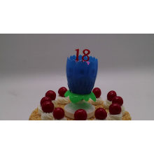 small 8 candls Rose lotus birthday music cake candle